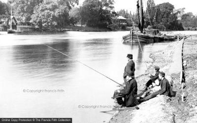 Kingston Upon Thames, Fishing 1890 - Francis Frith