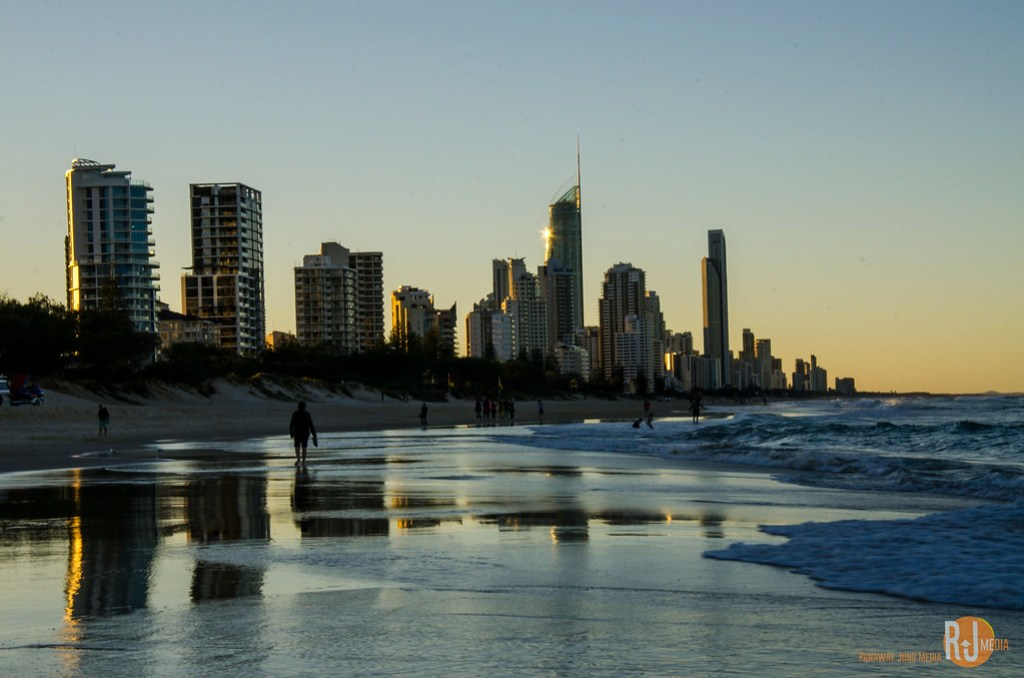 Long coastal line of Gold Coast and beyond