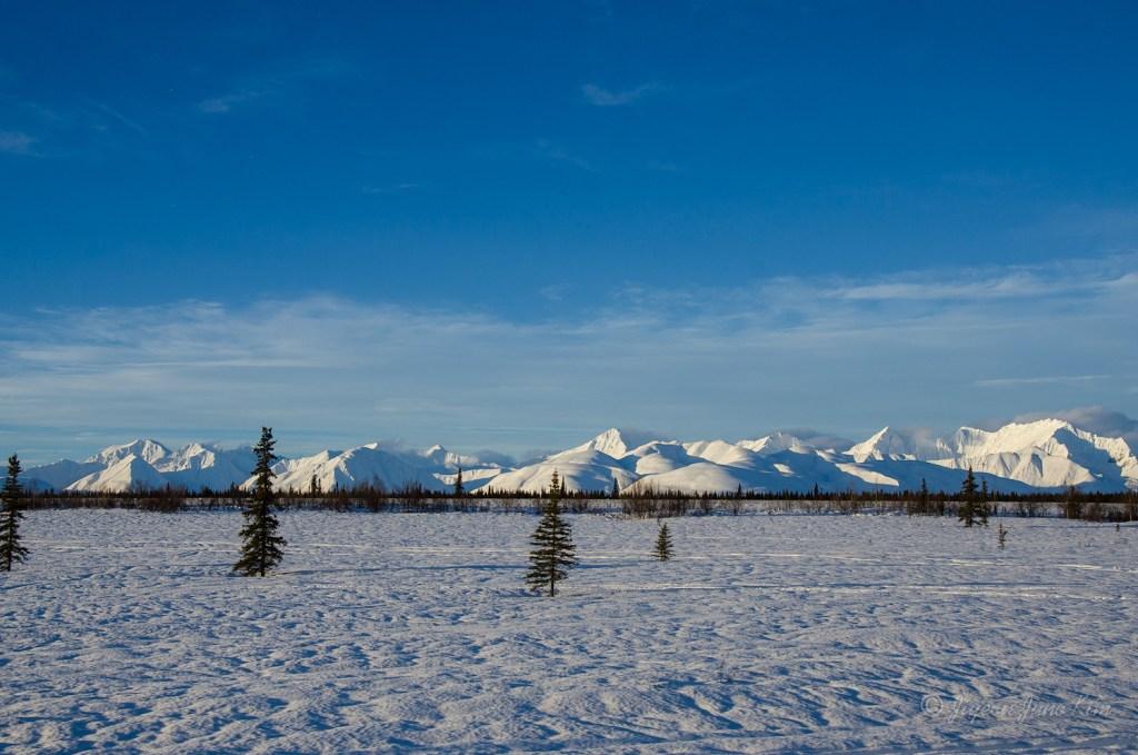 Alaska Range and snow field