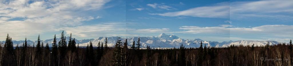 Panorama shot of Alaska Range
