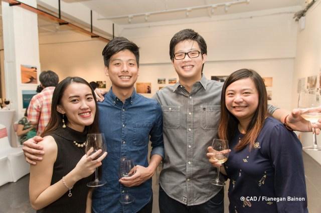 at wine tasting event @ CAD Centre for Arts & Design