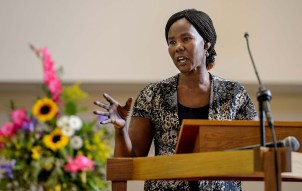 Nya Deng at the memorial service for 36-year-old Philip Aguto. Scott Sommerdorf/The Salt Lake Tribune