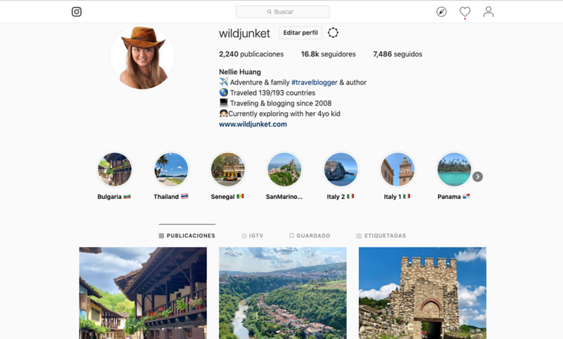 how to become a travel blogger - instagram