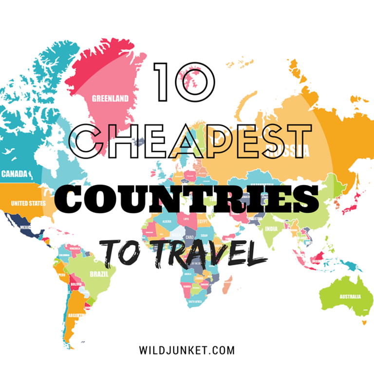 cheapest countries to travel map
