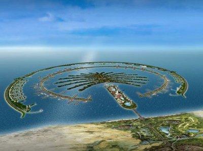 GIS Sites: Satellite images of Dubai & The Palm (Island of sand)
