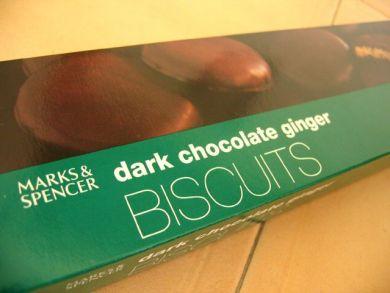 dark choc ginger biscuits