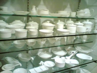 White porcelain