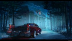 car in the night