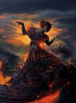 fire earth element woman lady girl