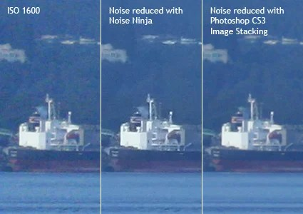 Noise Reduction vs Image Stacking