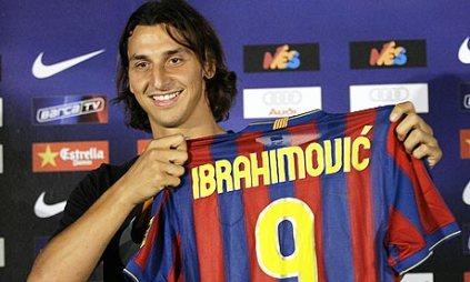 Zlatan Ibrahimovic in Nou Camp