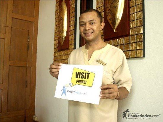 Wisith, a receptionist of Laguna Beach Resort