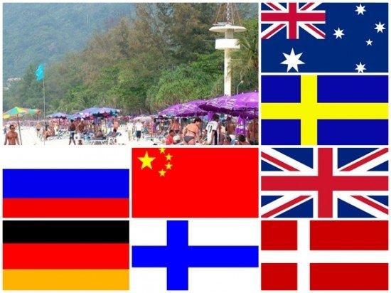 Top 10 nationalities who visited Phuket