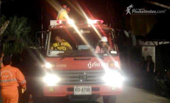 Firetrucks arrive
