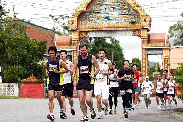 The Laguna Phuket International Marathon course features many traditional landmarks.