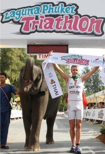 Laguna Phuket Triathlon 2011 and three-time champion Massimo Cigana.