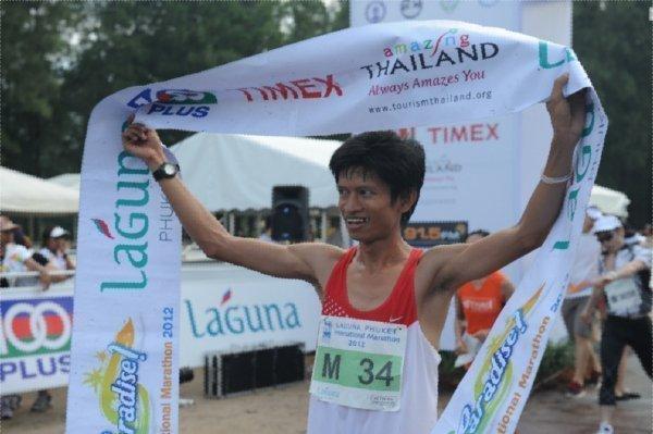 Surprise Thai Newcomer Winner of Laguna Phuket's 2012 Phuket International Marathon