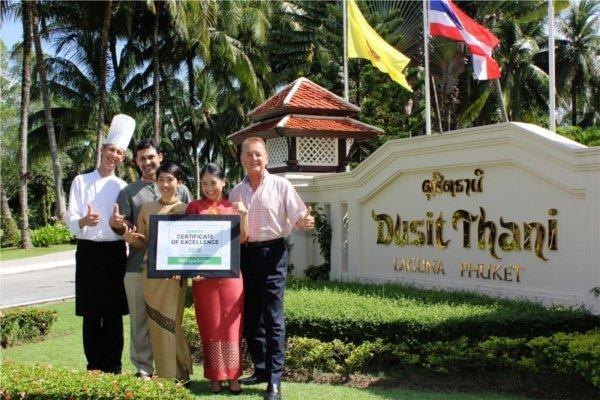 Phuket's Dusit Thani Laguna earns Certificate of Excellence