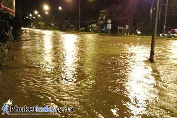 Phuket sees floods in many areas
