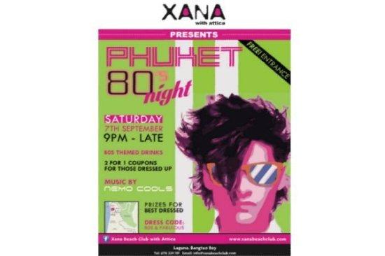 XANA Beach Club to hold Phuket 80s Night
