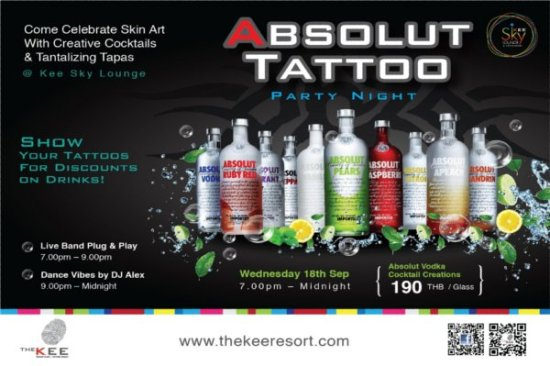Phuket's The KEE Absolut Tattoo Party
