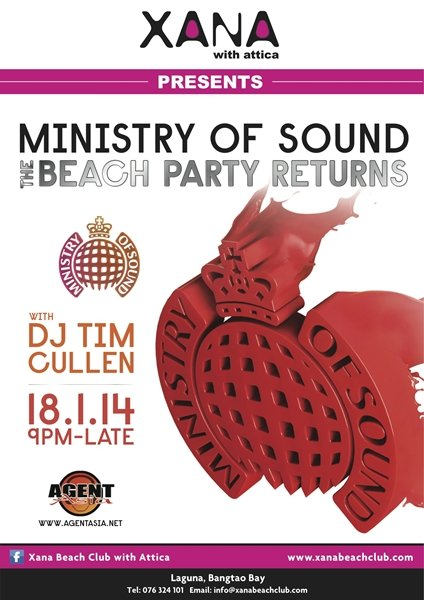 Phuket's XANA Announces 2nd Ministry of Sound Event