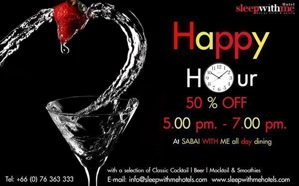 50% Happy Hour at Phuket's Sabai With Me