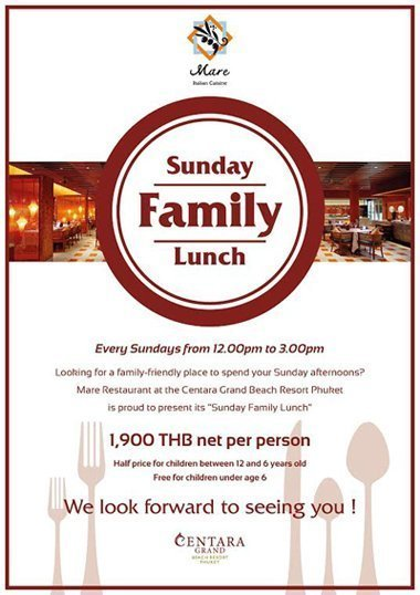 Sunday Family Launch @ Centara Grand Beach Resort Phuket