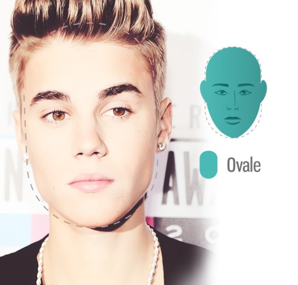 visage-de-Justin-bieber-ovale