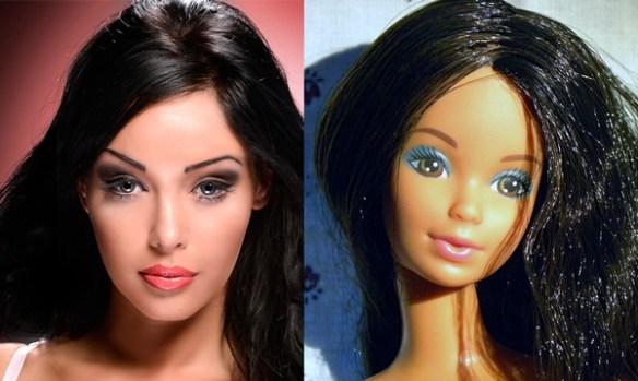 nabilla-barbie-brune