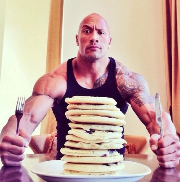 Dwayne-The-Rock-Johnson-alimentation-entrainement-muscles