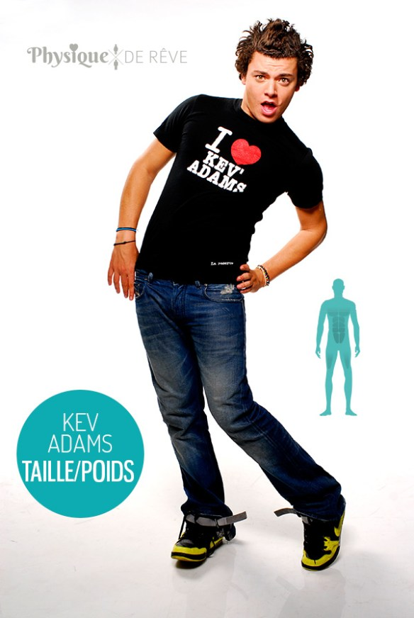 Kev-Adams-taille-poids