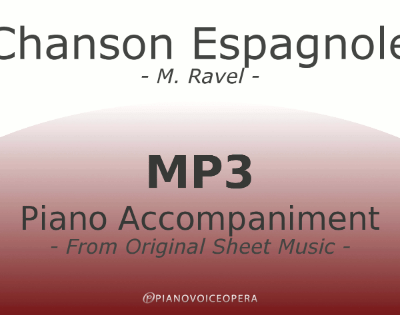 PianoVoiceOpera Chanson Espagnole Piano Accompaniment