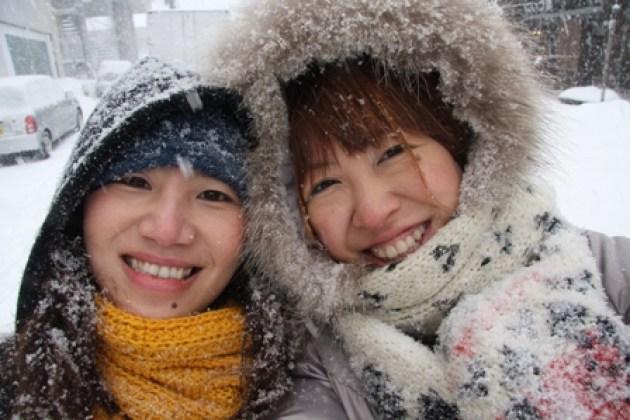 北海道的怪天氣…暴風雪中的露天風呂體驗