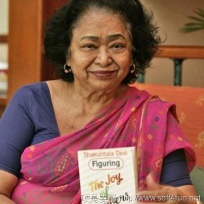 印度數學家 Shakuntala Devi 84歲誕辰