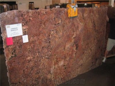 Juparana Bordeaux Granite Slabs from United States-12477 - StoneContact.com