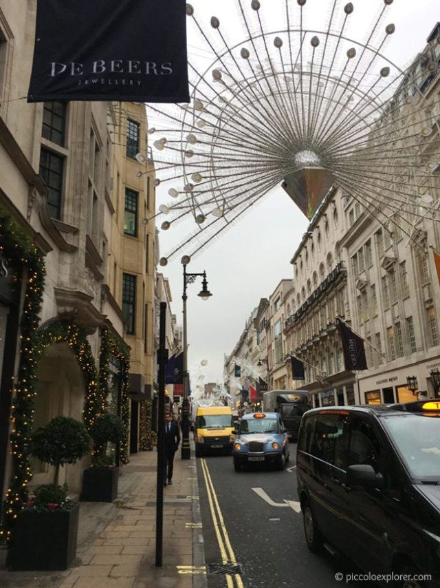 New Bond Street Christmas Lights, London