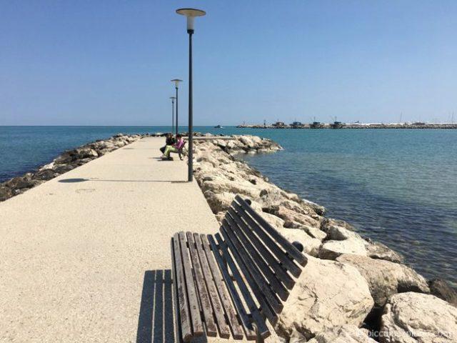 Pier at Lido beach, Fano, Italy