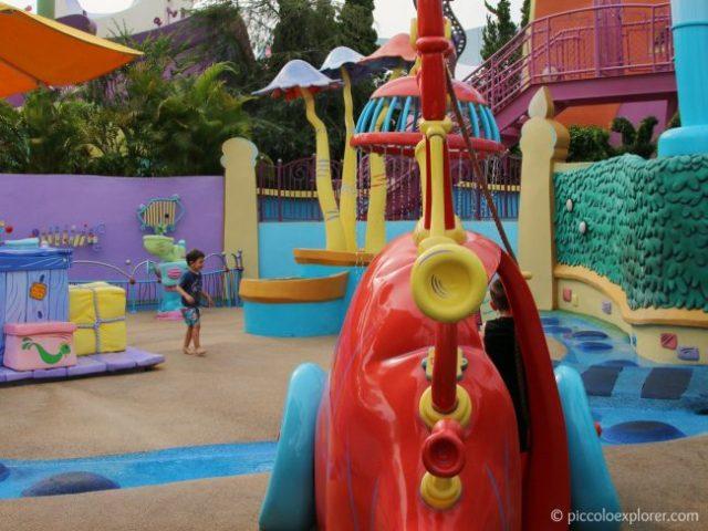 If I Ran a Zoo water play area at Seuss Landing, Universal's Islands of Adventure, Orlando, Florida