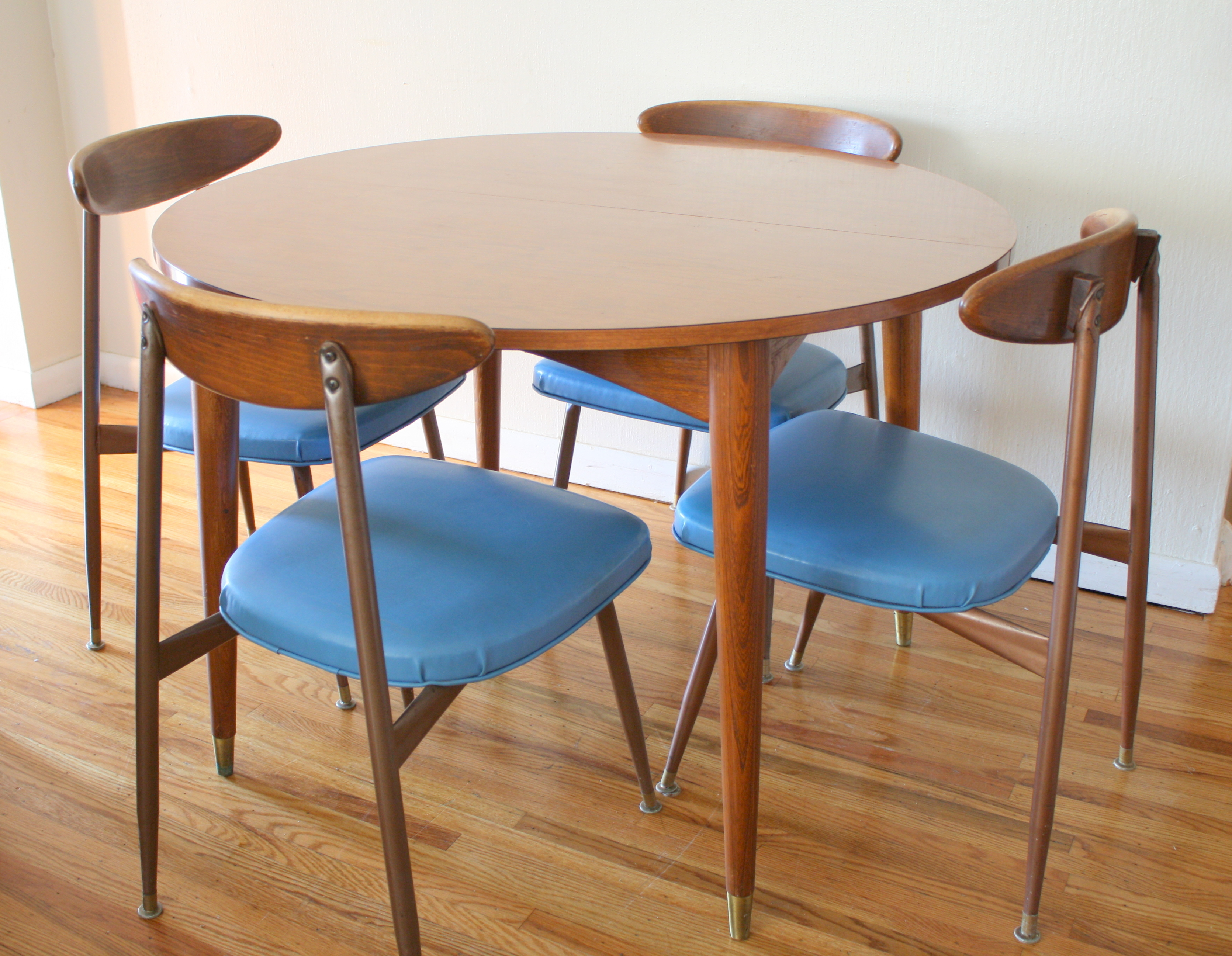 mid century modern dining table and chairs modern kitchen table chairs Mid Century John Widdicomb Dining Table 6 Chairs Modern Dining