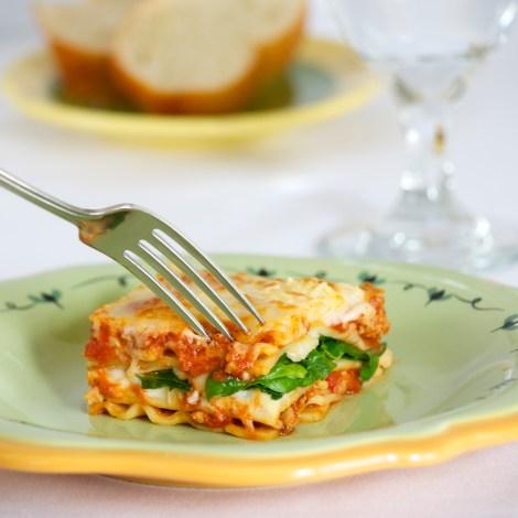Turkey and Spinach Lasagna