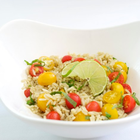 Summer Tomato and Lime Rice Salad