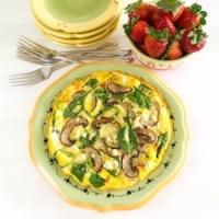 Spinach, Mushroom and Feta Frittata