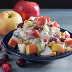 Waldorf Salad with Cranberries and Walnuts