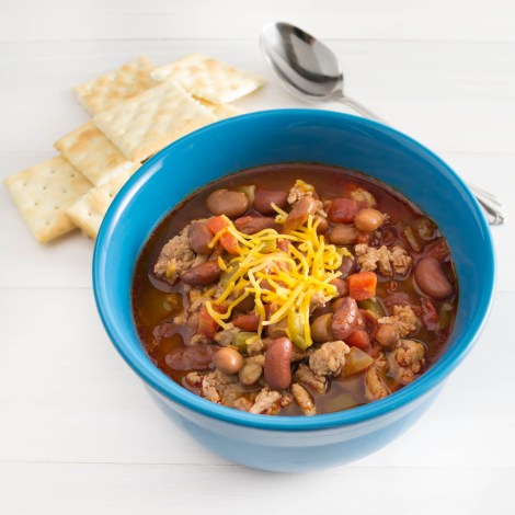 Three-Bean Turkey Chili Recipe — Dishmaps