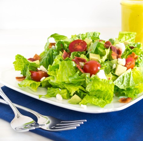 BLT Salad With Avocados And A Blue Cheese Dressing Recipe ...