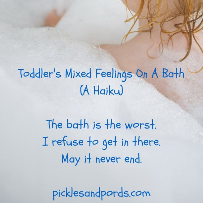 Toddler's Mixed Feelings On A Bath_The bath