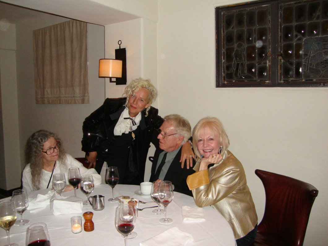 Cindy Canzoneri with Melvin Sokolsky, Ellen von Unwerth, and Melvin's beautiful wife, Buttons.