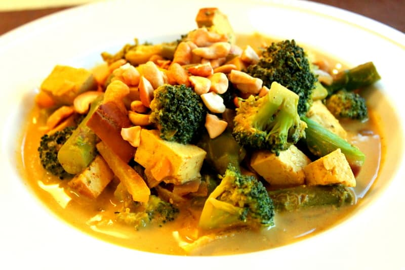 Thai Yellow Curry with Veggies, Cashews and Tofu — The ...