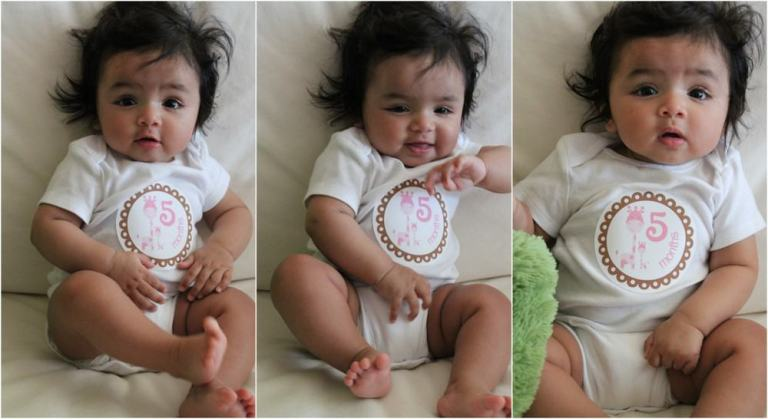 Layla 5 month collage